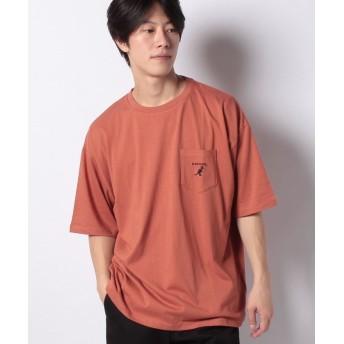 【13%OFF】 ウィゴー WEGO/KANGOL別注ポケットTシャツ メンズ ブラウン M 【WEGO】 【セール開催中】