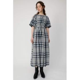 [マウジー] ワンピース ドレス CHECK H/S FLARE ドレス 010CSS30-1340 M ネイビー レディーズ