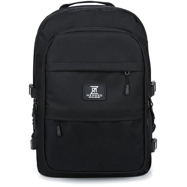 Menozo ズック 大容量 高校生 リュックサック 通勤 レディース 通学 リュック バックパック 黑 (ブラック)