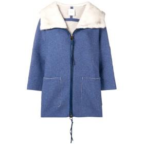 Agnona loose fitted coat - ブルー
