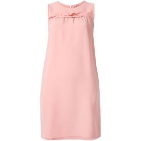 Nº21 ラッフル シフトドレス - ピンク