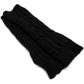 [スワンユニオン] スマホも使える アームウォーマー ロング 27cm ハンドウォーマー グローブ ロング ブラック 黒 ニット ds13-l-arm-menz