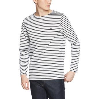 [ラコステ] コットンピケ ボーダーバスクシャツ (長袖) TH206EL メンズ ホワイト EU 004-(日本サイズL相当)