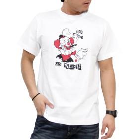 (コンフューズ)CONFUSE tシャツ メンズ 大きいサイズ ティシャツ 半袖Tシャツ ピエロ イラスト ロゴ logo ストリート 柄 ブランド プリント t-シャツ cfst2904 (L, WHITE)