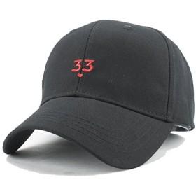 BAITER キャップ レディース ロゴ 数字33 ファッション小物 「頭周り調整でき:54~60CM可用」 (ブラック)