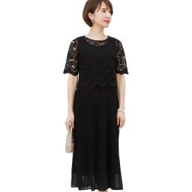 プールヴー ドレス ワンピース パーティードレス 結婚式 二次会 レディース ブラック Mサイズ 9号 2868