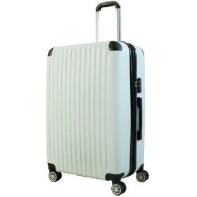 スーツケース キャリーバッグ 容量拡張機能付き 4輪ダブルキャスター TSAロック搭載 超軽量 エンボス加工傷が目立ちにくい 最高100L大容量(L1011WH)