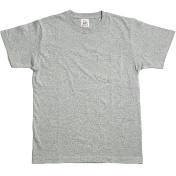 [エムエイチエー] M.H.A.style オープンエンド マックスウェイトポケットTシャツ 無地 半そで 10117 C.ヘザーグレー