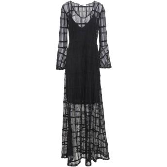 《セール開催中》RAME レディース ロングワンピース&ドレス ブラック 2 コットン 90% / ナイロン 10% / アセテート