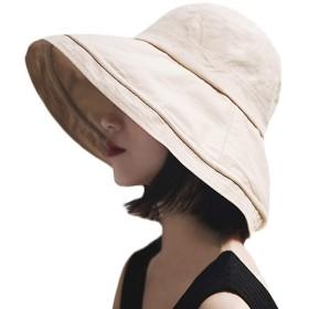T-wilker UVカット 帽子 シャイニングキャスケット レディース 大きいサイズ つば広 小顔 ハット 日よけ 紫外線カット つば広ハット 女優帽 小顔効果抜群 (ベージュ)