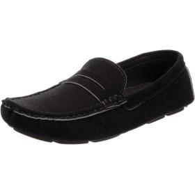 [レイトンハウス] メンズ ドライビングシューズ カジュアルスニーカー スウェード 革靴 ビジネス 素足感覚 LAS-303 ブラック 25.5 cm