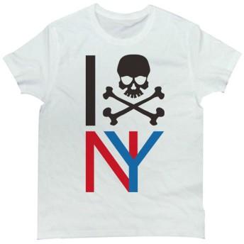 Tシャツ I LOVE NY デザインのスカルポップデザインTee