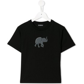 Balenciaga Kids エレファント Tシャツ - ブラック