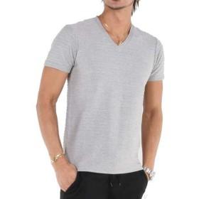 (エーエスエム) A.S.M メンズ Tシャツ 半袖 ピンタックボ-ダ-Tシャツ 02-66-8922 48(M) グレー(12)