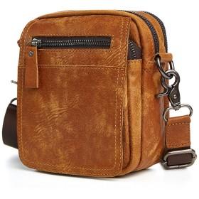 KIMIX 本革 バッグ メンズ ビジネス カジュアル ショルダー ボディバッグ 斜め掛け 革鞄