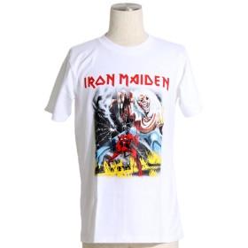 バンドTシャツ ロックTシャツ IRON MAIDEN アイアンメイデン モンスター XLサイズ 白 白色 ホワイト