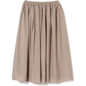 (ビームスライツ)BEAMS LIGHTS/スカート 手洗い可能 スパンボイルギャザースカート レディース BEIGE -