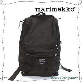 マリメッコ BUDDY 026994 999 black ナイロン バックパック リュックサック ショルダーバッグ【並行輸入品】