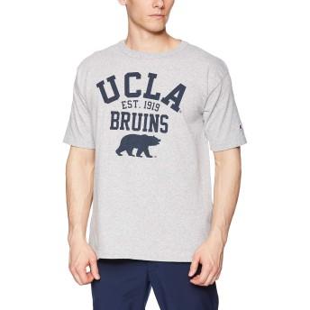 [チャンピオン] T1011 US Tシャツ MADE IN USA C5-P304 メンズ Oグレー×ブルー 日本 XL (日本サイズXL相当)