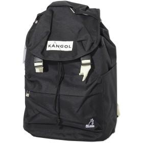 KANGOL カンゴール バックパック リュック カバン フラップ ピスネーム (KGSA-BG00017) O/S BLK×OFF