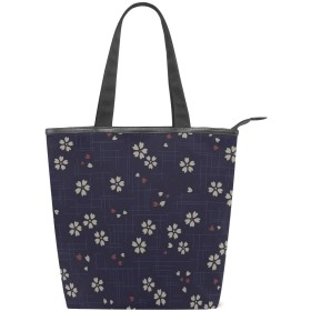 SoreSore(ソレソレ)トートバッグ 大容量 レディース メンズ キャンパス 和風 和柄 花柄 エレガント バッグ ハンドバッグ A4対応 ファスナー 大きめ 通学 旅行 帆布 プレゼント