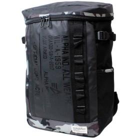 アルファ バッグ ALPHA INDUSTRIES (アルファ インダストリーズ) ユニセックス ボックス型リュック バックパック リュックサック デイバック 全3色 40056 (BLACK/CAMO)