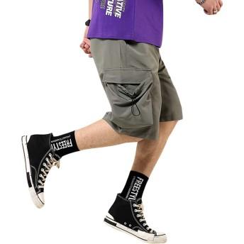 [YACORESYA(夜行列車)] ジョガーパンツ メンズ ハーフパンツ 短パン カーゴ 5分丈 大きいサイズ サルエル ショートパンツ 夏 カジュアル ゆったり
