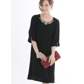 プールヴー パーティードレス ワンピース ドレス お呼ばれ 女子会 レディース ブラック XLサイズ 13号