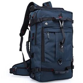アウトドア 登山用バッグ バックパック 多機能ハイキング navy 50L