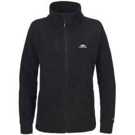 (トレスパス) Trespass レディース Clarice フルジップ フリースジャケット オーバー アウター スポーツ 冬 防寒 (XL) (ブラック)