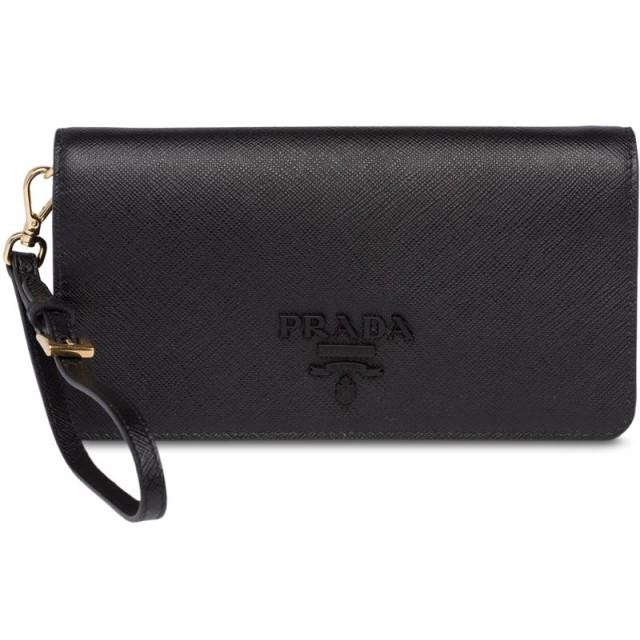 Prada フラップ ショルダーバッグ - ブラック