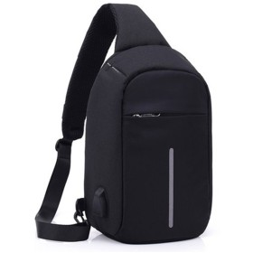 KeyYouNi Anti Theft Sling Bag with Usb Charging Port Shoulder Chest Cross body Backpack Travel Casual Daypack