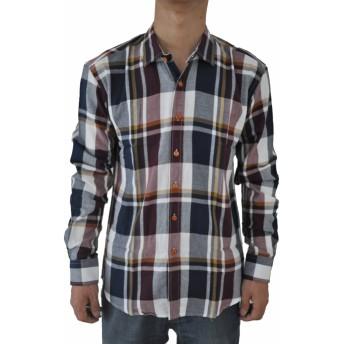 SODIAL 男性の新しいスリムフィット長袖のチェック柄のシャツ カジュアルなシャツ コットンドレスシャツ タキシードシャツ M 13