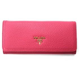 PRADA(プラダ)1M1132 VITELLO DAINO PEONIA 型押カーフ 長財布 ピンク (並行輸入)