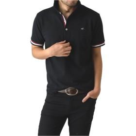 (リミテッドセレクト) LIMITED SELECT M1.5 カラーリブカノコ半袖ポロシャツ メンズ RH0411 LL サイズ B ブラック 41