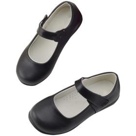 [LPATTERN] ドレスシューズ 女の子 パンプス フォーマルシューズ 靴 発表会 結婚式 七五三 入学式 卒業式 つやなし 黒 内長16.4cm-25.3cm
