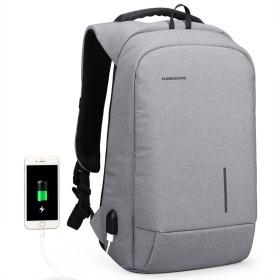 ショルダーバッグ、USB充電インターフェース+見えない盗難防止バッグ、防水ナイロンファッションファッション超ワイドストラップ付きカジュアルなオフィスバックパック