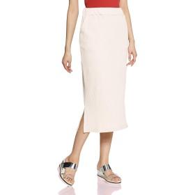 [ウィゴー] WEGO リブ タイト ミドル スカート F フリー サイズ ホワイト アイボリー