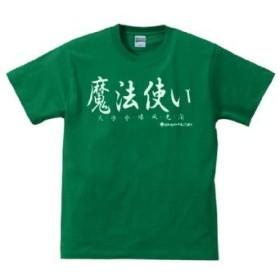 ≪ 魔法使い LV20≫ おもしろメッセージTシャツ ORT-19111 Sサイズ グリーン