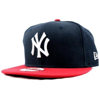 NEWERA 9FIFTY SNAPBACK NAVY SCARLET WHITE ニューエラ キャップ スナップバック NY ニューヨーク・ヤンキース ネイビー/レッド 紺×赤