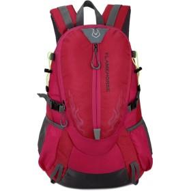 k-outdoor バックパック アウトドア リュックサック ビジネスリュック 通学 旅行 登山 ハイキング 耐衝撃 盗難防止 大容量 軽量 防水 ピンク
