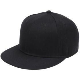 Takiloy キャップ メンズ レディース 無地 Hip Hop 帽子 クラシック 平ひさし帽 ヒップホップ 野球帽 ゴルフ オシャレ 旅行 UVカット 調節可能 男女兼用 (全5色 黒)