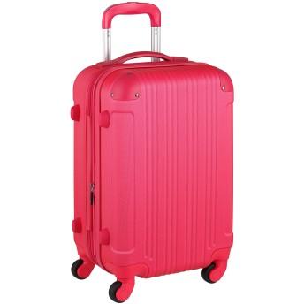 スーツケース キャリーケース キャリーバッグ 安心1年保証 機内持ち込み 可 ファスナー 傷が目立ちにくい SS サイズ 1日 2日 3日 TSAロック ハードキャリー 拡張 ジッパー 女子旅 全サイズ 有り 5082-48 マゼンタピンク
