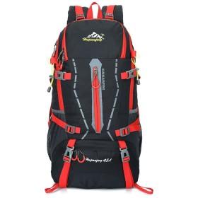 GUGULUZA 登山 リュック サック アウトドア 旅行パック ザック 防水 軽量 耐久性 ハイキング 登山用 (黒い)