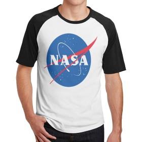 メンズ半袖Tシャツ Kualday Nasa 春、夏、秋と冬の屋内と屋外の半袖Tシャツ、学校、旅行、仕事、ランニング、ウォーキング、デート