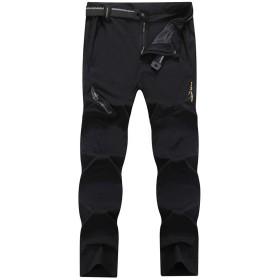 KEFITEVD 作業着 通気性 速乾パンツ メンズ カーゴズボン ゆったり 長ズボン 釣り 撥水 スポーツウェア ロングパンツ ゴルフ ブラック 3XL
