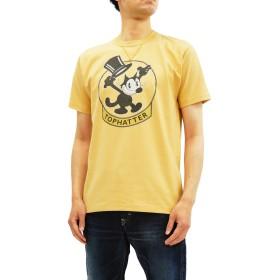 (トイズマッコイ) TOYS McCOY TMC1838 Tシャツ Felix The Cat メンズ 半袖Tee (イエロー, M)