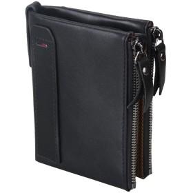iSuperb 財布 マネークリップ メンズ 革 カードケース カード入れ カードホルダー 大容量 レザー RFIDブロキング (ブラック)