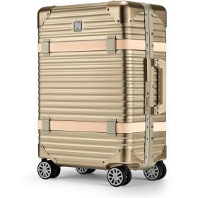 [ランツォ] スーツケース バイキング 24インチ 47L 55cm 6.1kg 【182402】Gold/Beige