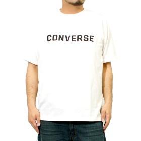 コンバース(CONVERSE) Tシャツ メンズ 大きいサイズ 半袖 ロゴ 箔プリント クルーネック カットソー 4L ホワイト(09)